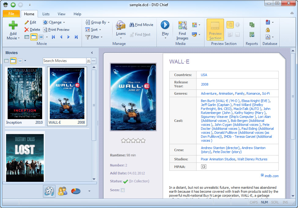 Click to view DVD Chief screenshots